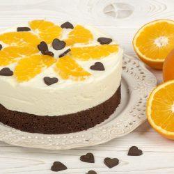 Торт брауни с апельсиново- творожным желированным кремом