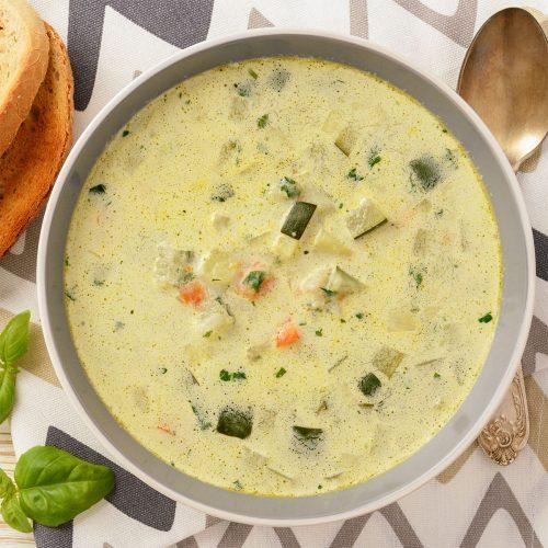 Легкий и вкусный овощной суп