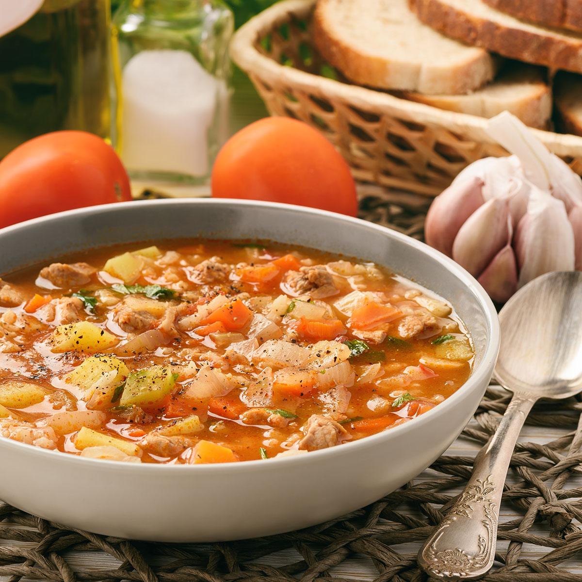 Мастава - густой рисовый суп