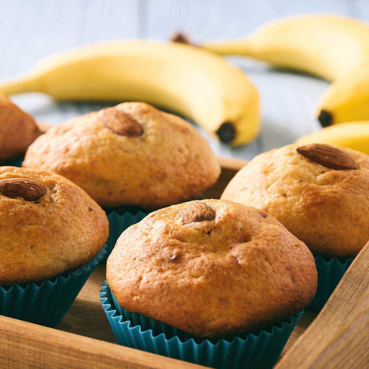 Маффины с бананами и миндалем