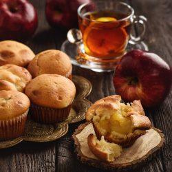 Маффины с яблочной начинкой